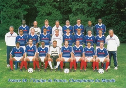 Carte Postale De L'Equipe De France Championne Du Monde 1998 - Habillement, Souvenirs & Autres