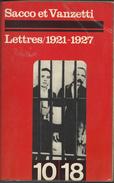 Sacco Et Vanzetti Lettre 1921- 1927 - Historisch
