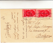 Decennale Fiume, 20+20 Centesimi Su Cartolina Postale Golfo Di Napoli 1934 - Marcophilia