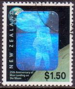 NEW ZEALAND 1994 SG 1818 $1.50 Used 25th Anniv First Moon Landing - Nuova Zelanda