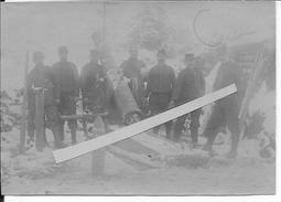 1915 Mortier De Place De 220mm Du 20ème R.A En Batterie Dans La Tranchée 1 Photo 19154-1918 14-18 Ww1 1wk - War, Military