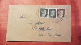 DR 33-45: Fern-Brief Mit 10 Pfg Hitler MiF Mit 1 Pfg (2) Vom 8.1.45 Knr: 787 - Deutschland