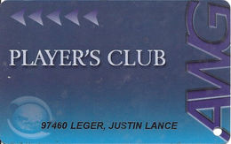 Atlantis World Casino - St. Marteen - AWG Guest Card / Casino Slot Card - 01 Over Mag Stripe - Casino Cards
