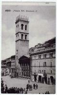 ASSISI Perugia PIAZZA VITTORIO EMANUELE II ANIMATA - Perugia