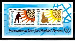 """Bahamas   """"Year Of Disabled Persons""""    Souvenir Sheet    SC# 485a    MNH - Bahamas (1973-...)"""