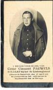 Bidprentje Pauwels Geboren Maastricht Gevallen Ingelmunster 26/5/40 8 Ste Linie - 1939-45