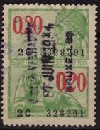 BELGIUM - Revenue Tax STAMP - USED - 0.20 / Lion - Stamps