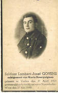 Bidprentje Goyens Geboren Veulen Gevallen Nieuwkerke Waas 27/5/40 - 1939-45