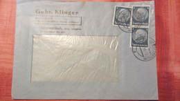 DR 33-45: Fern-Brief Mit 4 Pf Hindenburg MeF OSt. Lommatzsch, Fa-Brf Der Gebr. Klinger Vom 19.6.41 Knr: 514 (3) - Deutschland