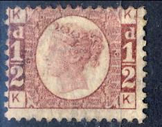 UK Victoria 1870 N. 49 Mezzo D, KK, Rosso Carminio, MLH Cat. € 110 - Unused Stamps