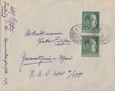 DR Brief Mef Minr.2x 672 Freiburg 10.9.38 - Briefe U. Dokumente