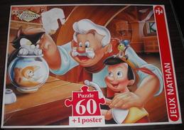 """Puzzle Vintage """"Pinocchio En Famille"""" - 60 Pièces - 1995 - Puzzle Games"""