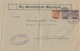 DR Brief Dienst Mif Minr.2x D59, D61 Göppingen - Dienstpost