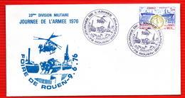 COMMEMORATIVE JOURNEE DE L'ARMEE  9 6 1976 ROUEN - 1970-1979