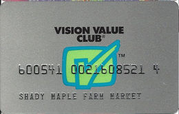 Vision Value Club - Member Account Card - Other Collections