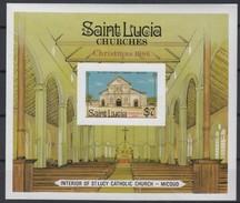 St-Lucia Sainte-Lucie 1986 Yvertnr. Bloc 49B ND Ongetand *** MNH  Noël Kerstmis Christmas - St.Lucie (1979-...)
