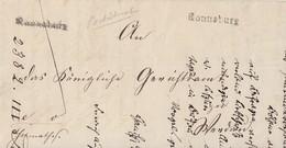 Sachsen Brief L1 Ronneburg Mit Bpst Glauchau-Gera - Sachsen