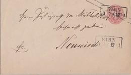Preussen GS-Umschlag 1 Silb.Gr. R2 Kirn 10.7. Gel. Nach Neuwied - Preussen