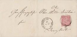 NDP Brief EF Minr.21 K1 Friedberg 1.12.70 Gel. Nach Darmstadt - Norddeutscher Postbezirk