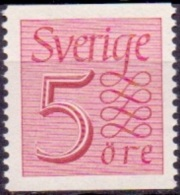 ZWEDEN 1951 5öre Roodlila Cijfertype II PF-MNH