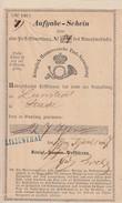 Hannover Einlieferungsschein L1Lilienthal 28.4.1867 - Hannover