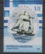 ARGENTINA, 2016, MNH, SHIPS, GREEK SAILORS WHO FOUGHT FOR INDEPENDENCE, 1v - Barche