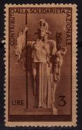 Italy - CONTRIBUTO ALLA SOLIDARIETA NAZIONALE / Charity Stamp VIGNETTE LABEL CINDERELLA / Used - 5. 1944-46 Lieutenance & Umberto II