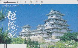 Télécarte Ancienne Japon / NTT 330-016 - PAGODE - TEMPLE CASTLE Japan Front Bar Phonecard - Schloss Relgion Balken TK - Japon