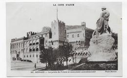 MONACO - N° 347 - LE PALAIS DU PRINCE ET MONUMENT COMMEMORATIF - CPA NON VOYAGEE - Prince's Palace