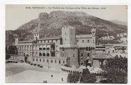 MONACO - LE PALAIS DU PRINCE ET LA TETE DE CHIEN - CPA VOYAGEE - Prince's Palace