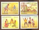 TANZANIA ; SCOTT # 2548-A-D ; IGPC 0914 CO ; MINT N H STAMPS ( YOUTH & SPORT - Tanzania (1964-...)