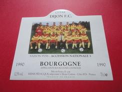 CUVEE DIJON F . C. SAISON 95/96 / ACCSESSION NATIONALE 3  / BOURGOGNE 1990 - Soccer