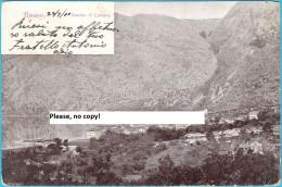 RISANO ( Risan ) Near Kotor - BOCCHE DI CATTARO ( Montenegro ) * Travelled 1900. To Trieste * Crna Gora - Montenegro