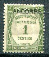 ANDORRE Français - Y&T Taxe 16* - Andorre Français