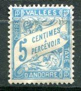 ANDORRE Français - Y&T Taxe 17* - Andorre Français