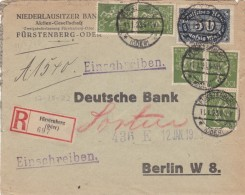 Sc#172 And #198 100pf  1921-22 And 50M 1922-23 Issues On Registered Cover - Germany