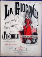 PARTITION GF PIANO OPÉRA LA JOCONDE GIOCONDA AMILCARE PONCHIELLI GORRIO SALADINO 1916? RINA - Opera