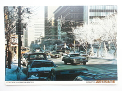 Postcard Portage Avenue In Winter Winnipeg Manitoba Canada PU 1980 By Henry Kalen Tripix My Ref B2635 - Winnipeg