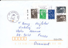 France Cover Sent To Denmark 2-6-2009 With More Marianne Stamps - France