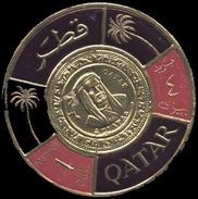 Qatar Scott # 99b, 4np Purple & Red (1966) Gold Coin Stamp, Mint