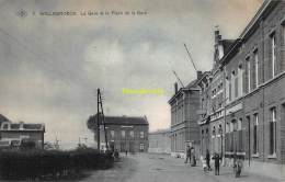 CPA  WILLEBROEK WILLEBROECK LA GARE ET LA PLACE DE LA GARE - Willebroek