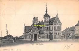 CPA  HALLE HAL LA STATION GARE STATIE - Halle
