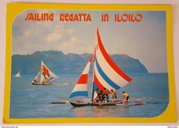 SAILING REGATTA IN ILOILO PHILIPPINES - Colourful Sails On Native Outrigger Boats - Filippine