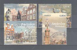 France Oblitérés N°5090 à 5093 (Capitales Européennes : Amsterdam) (Cachet Rond)