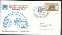 Germany Munich 1988 / U Bahn / U 4 / U 5 / Odeonsplatz - Innsbrucker Ring - Arabellapark / Trains / Railway - Eisenbahnen