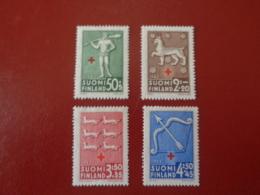 Finlande 1943 Série Complète Du N°261 Au N°264 Neuf* (charnière)