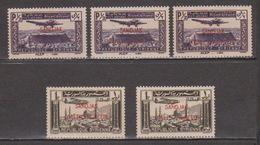 Turkey,Sandjak Alexandrette&Hatay,Syria,Air.10/11/1938/,/0,50p.+1p. 5 Stamps,MNH. - 1934-39 Sandjak Alexandrette & Hatay