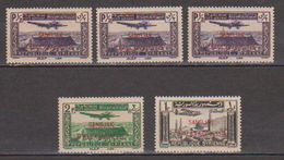 Turkey,Sandjak Alexandrette&Hatay,Syria,Air.10/11/1938/,/0,50p.+1p.+2p. 5 Stamps,MNH. - 1934-39 Sandjak Alexandrette & Hatay