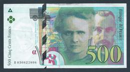 . France - 500 Francs 1994 - Série R (Pierre Et Marie Curie) - 500 F 1994-2000 ''Pierre Et Marie Curie''