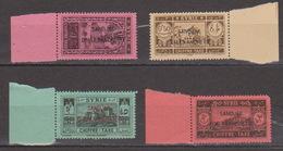 Turkey,Sandjak Alexandrette&Hatay,Syria,Taxe.10/11/1938/,/0,50+1+3+5p. 4 Stamps,MNH. - 1934-39 Sandjak Alexandrette & Hatay